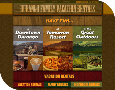 Durango Family Vacation Rentals - Digital Branding